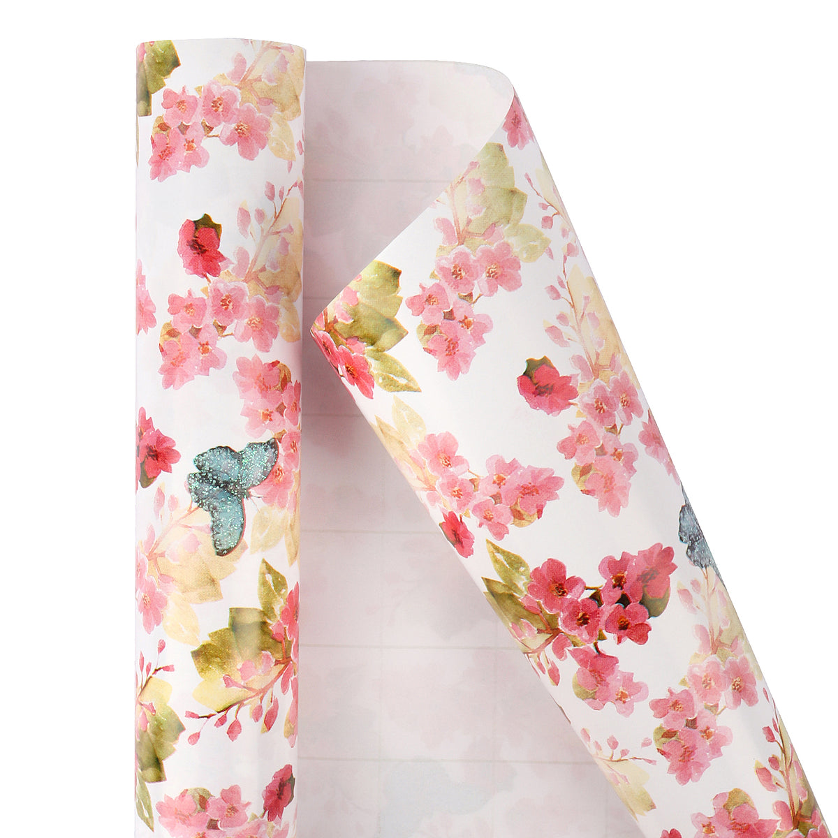 Wrapaholic-3 Different-Floral- and-Butterfly-Design-Wrapping-Paper -Roll-(14.4 sq. ft.TTL.)-2