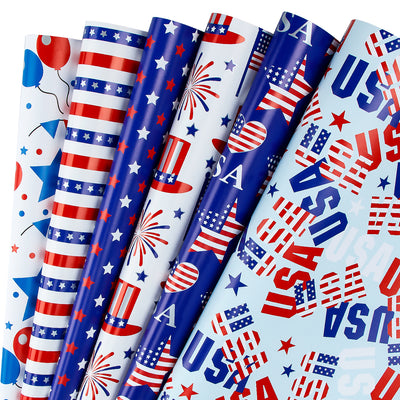 Wrapaholic-American-Flag-Wrapping-Paper-Sheets-1