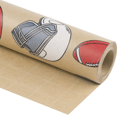 Wrapaholic-American-Football-Style-Kraft-Gift-Wrapping-Paper-1