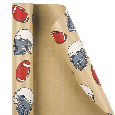 Wrapaholic-American-Football-Style-Kraft-Gift-Wrapping-Paper-2