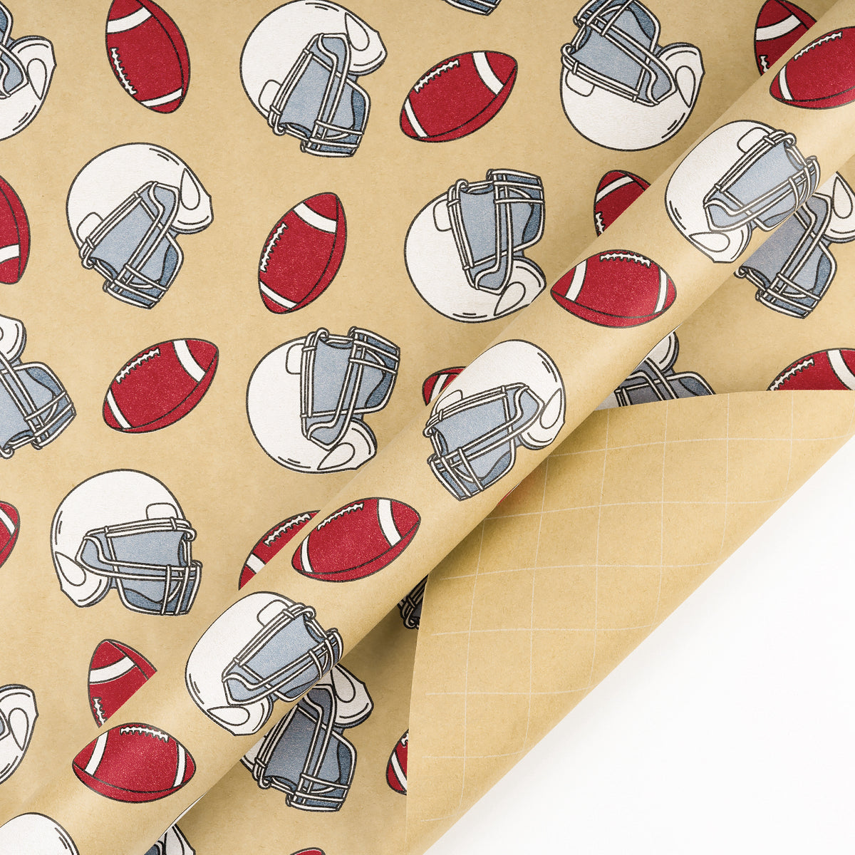 Wrapaholic-American-Football-Style-Kraft-Gift-Wrapping-Paper-3