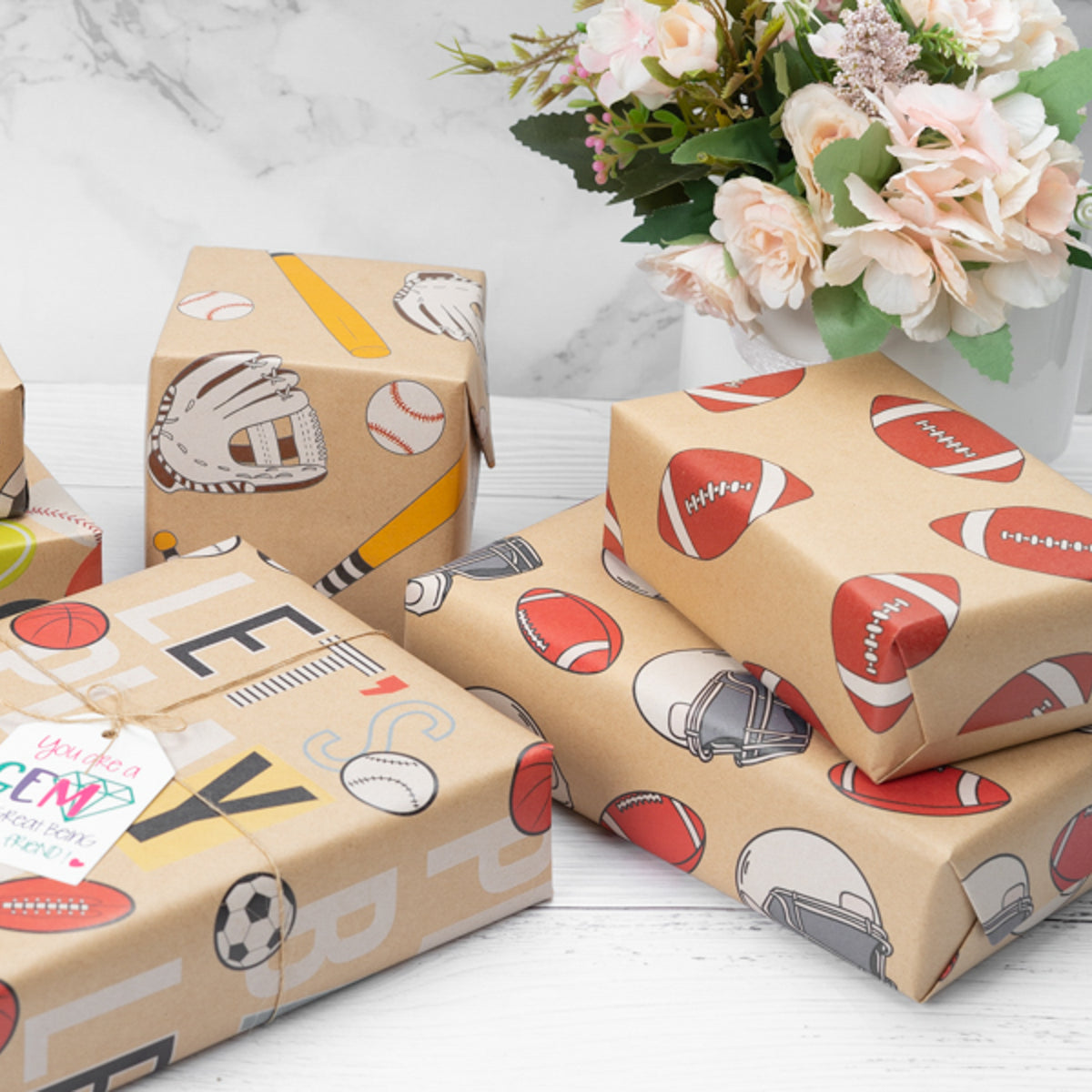 Wrapaholic-American-Football-Style-Kraft-Gift-Wrapping-Paper-5