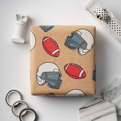 Wrapaholic-American-Football-Style-Kraft-Gift-Wrapping-Paper-6