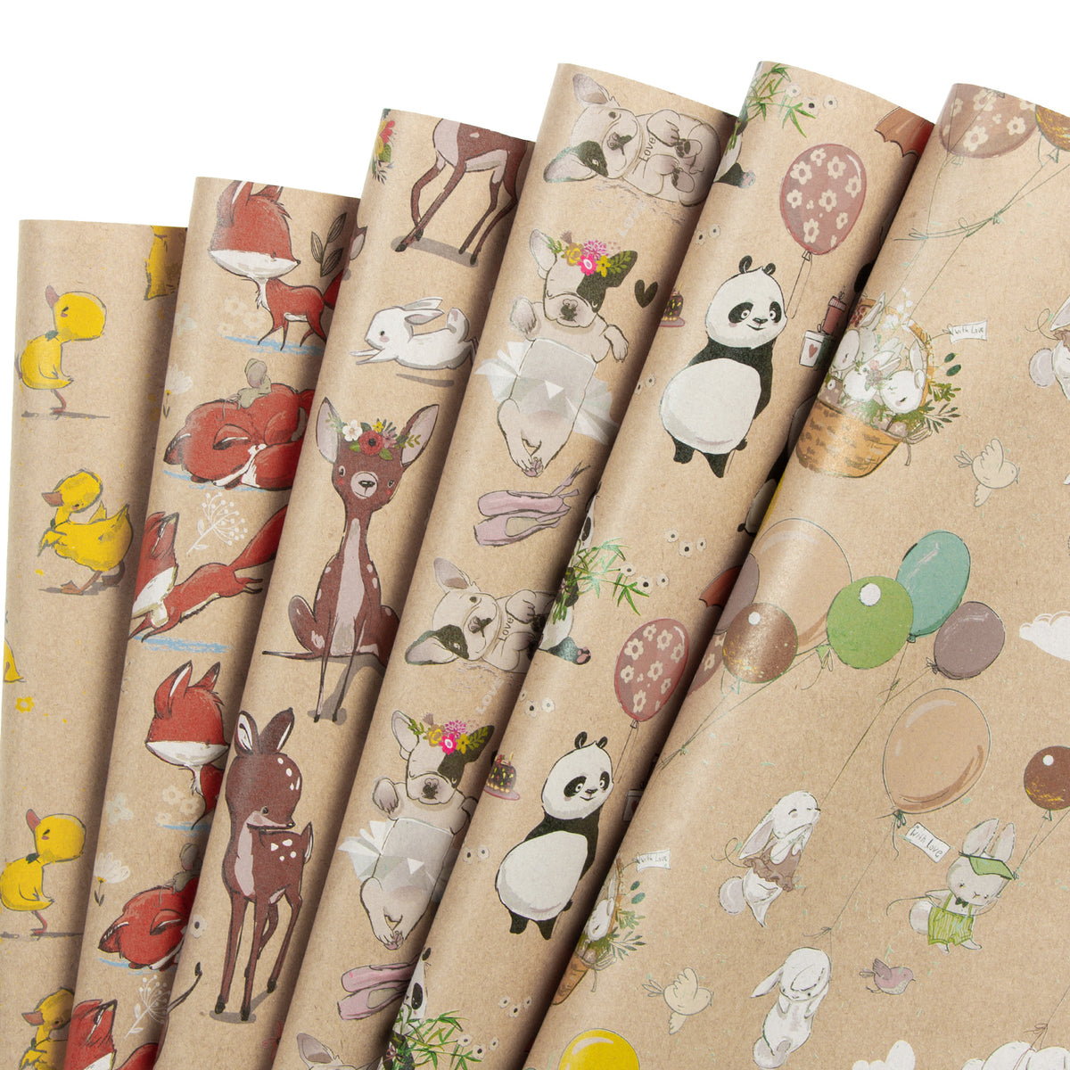 Wrapaholic- Animal-Party -Wrapping Paper Sheet-1