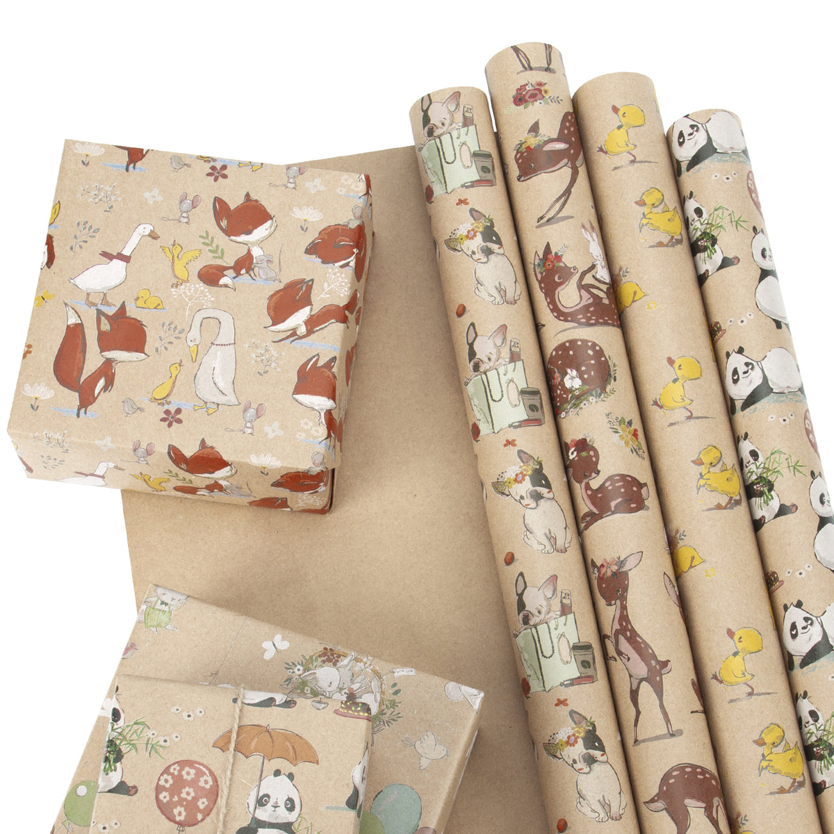 Wrapaholic- Animal-Party -Wrapping Paper Sheet-2