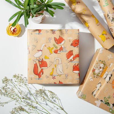 Wrapaholic- Animal-Party -Wrapping Paper Sheet-6