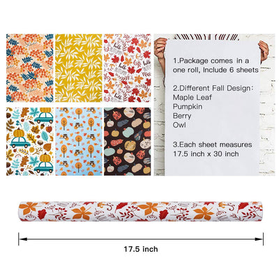 Wrapaholic-Autumn-Fall-gift-wrapping-paper-sheets-3