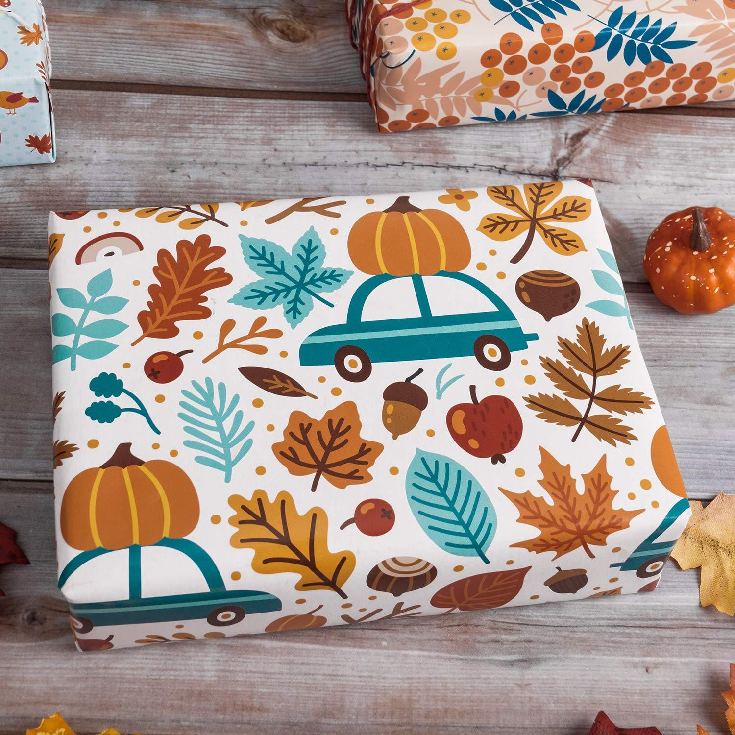 Wrapaholic Fall In Love Autumn Gift Wrapping Paper Sheet 6 Sheets Wrapaholicgifts