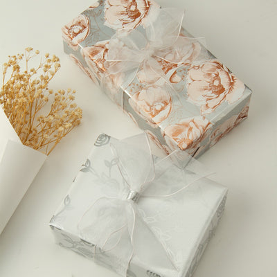 Wrapaholic-Beautiful-Gold- Print-Floral-Design-Gift-Wrapping-Paper -Roll-5