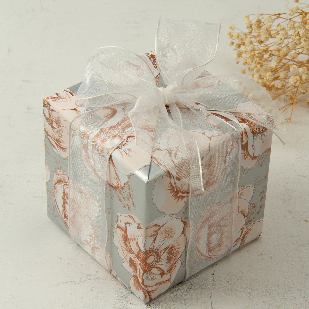 Wrapaholic-Beautiful-Gold- Print-Floral-Design-Gift-Wrapping-Paper -Roll-6