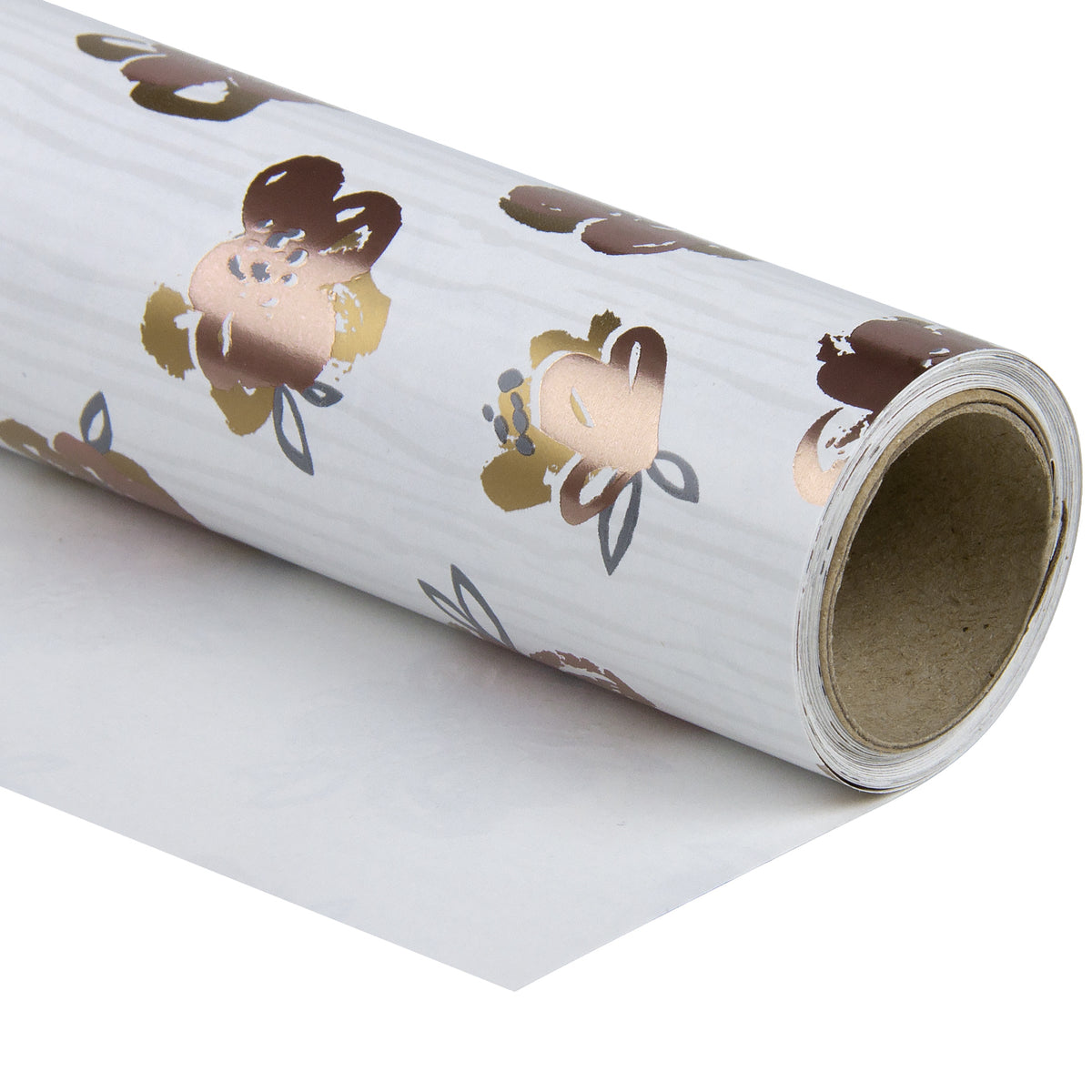 Wrapaholic- Beautiful-Pink Floral-with-Gold-Foil-Design-Gift- Wrapping-Paper -Roll-1