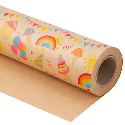 Wrapaholic-Birthday-Design-Brown- Kraft-Gift-Wrapping-Paper-2