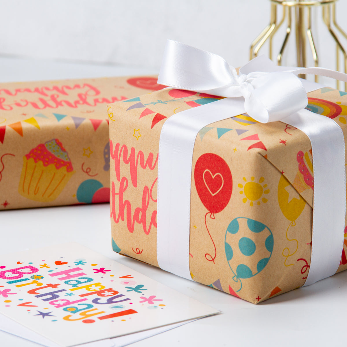 Wrapaholic-Birthday-Design-Brown- Kraft-Gift-Wrapping-Paper-4