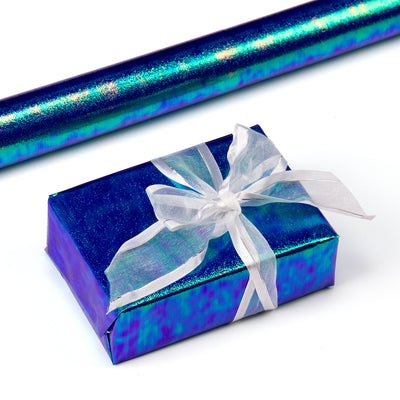 Wrapaholic-Blue-Paper-with -Rainbow-Shiny -Gift-Wrapping-Paper-Roll-1