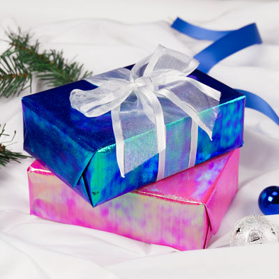Wrapaholic-Blue-Paper-with -Rainbow-Shiny -Gift-Wrapping-Paper-Roll-4