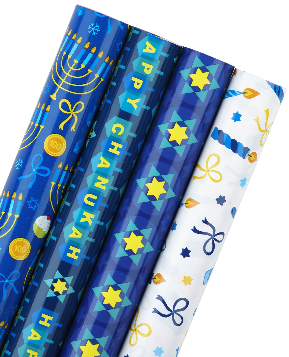 Wrapaholic-Chanukah-Gift Wrapping-Paper-Roll-1