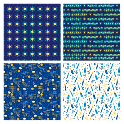 Wrapaholic-Chanukah-Gift Wrapping-Paper-Roll-3