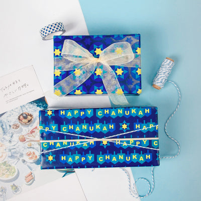 Wrapaholic-Chanukah-Gift Wrapping-Paper-Roll-4