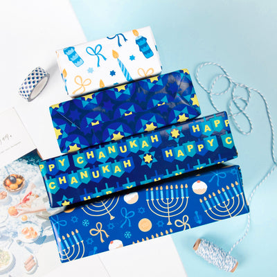 Wrapaholic-Chanukah-Gift Wrapping-Paper-Roll-5