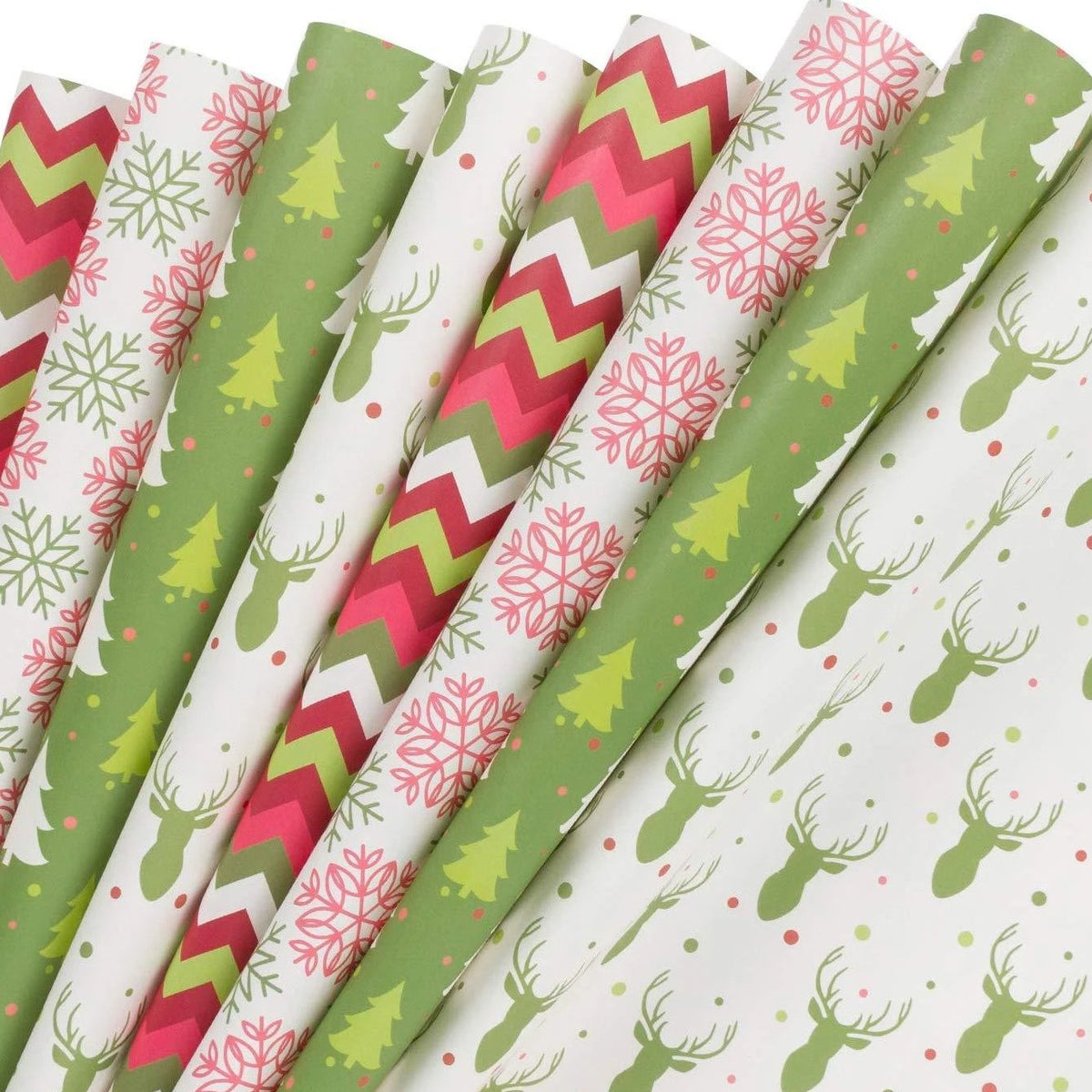 Wrapaholic-Christmas-gift-wrapping-paper-sheets-tree-snow-deer