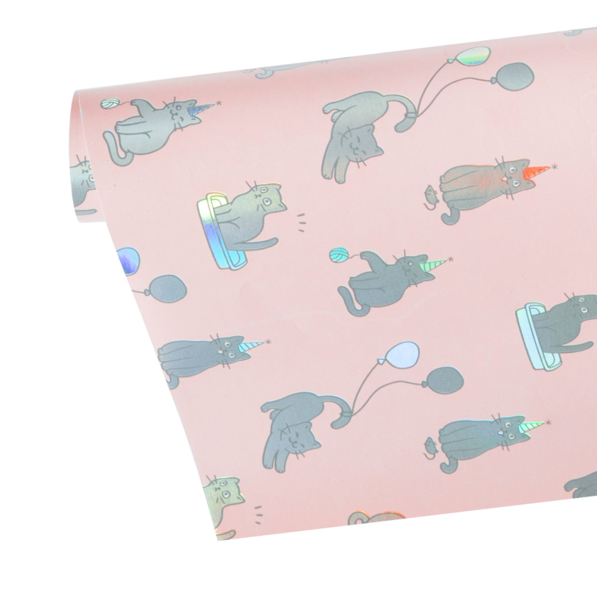 Wrapaholic-Cute-Cats- Design-with- Colorful-Foil-Gift -Wrapping-Paper-Roll-3