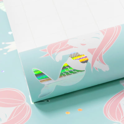 Wrapaholic-Cute- Mermaid-Design-Gift-Wrapping-Paper-Roll-1