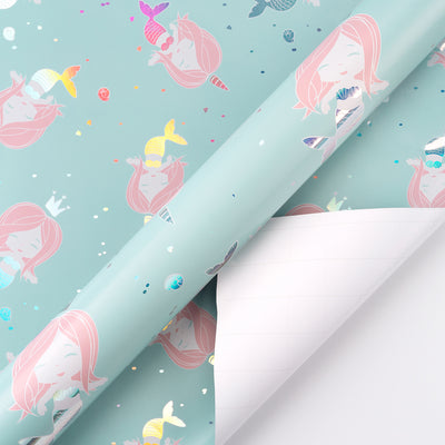 Wrapaholic-Cute- Mermaid-Design-Gift-Wrapping-Paper-Roll-2