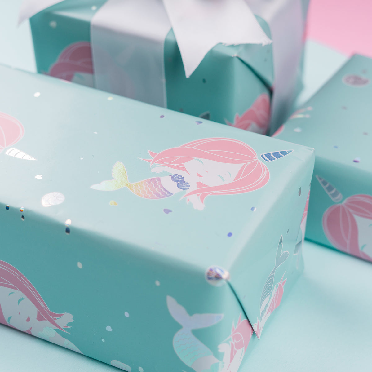 Wrapaholic-Cute- Mermaid-Design-Gift-Wrapping-Paper-Roll-6