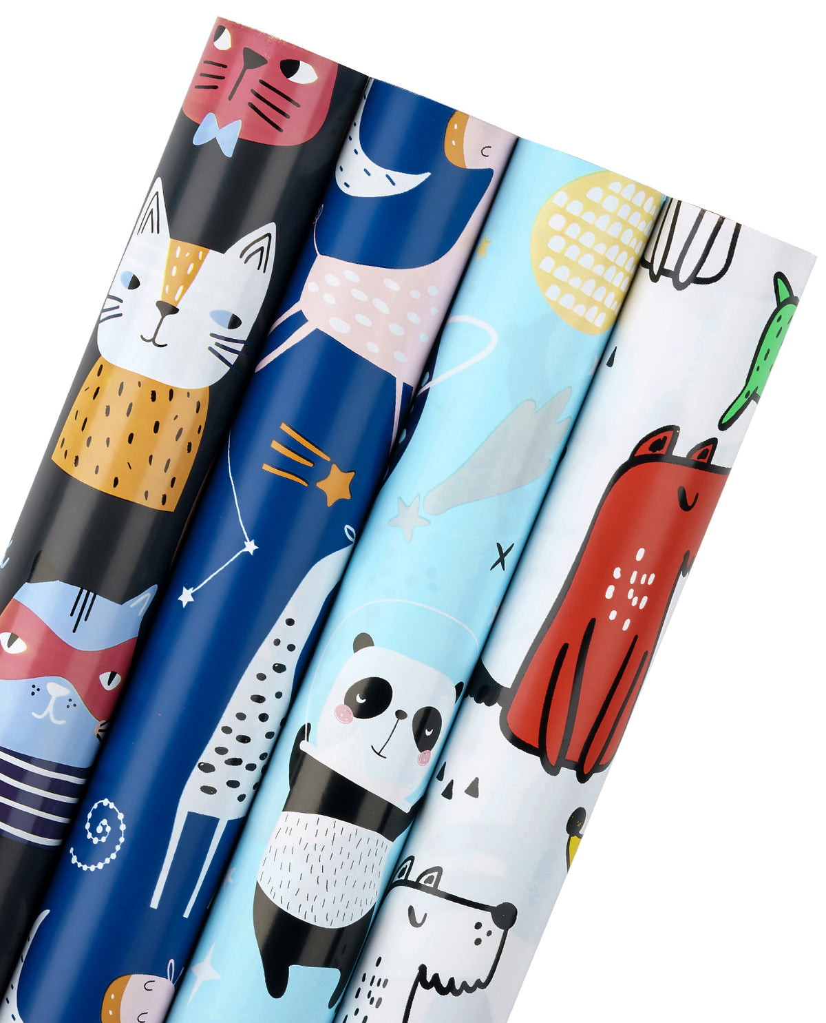 Wrapaholic-Cute Animal-Design -Gift-Wrapping-Paper-Roll-4 Rolls-1