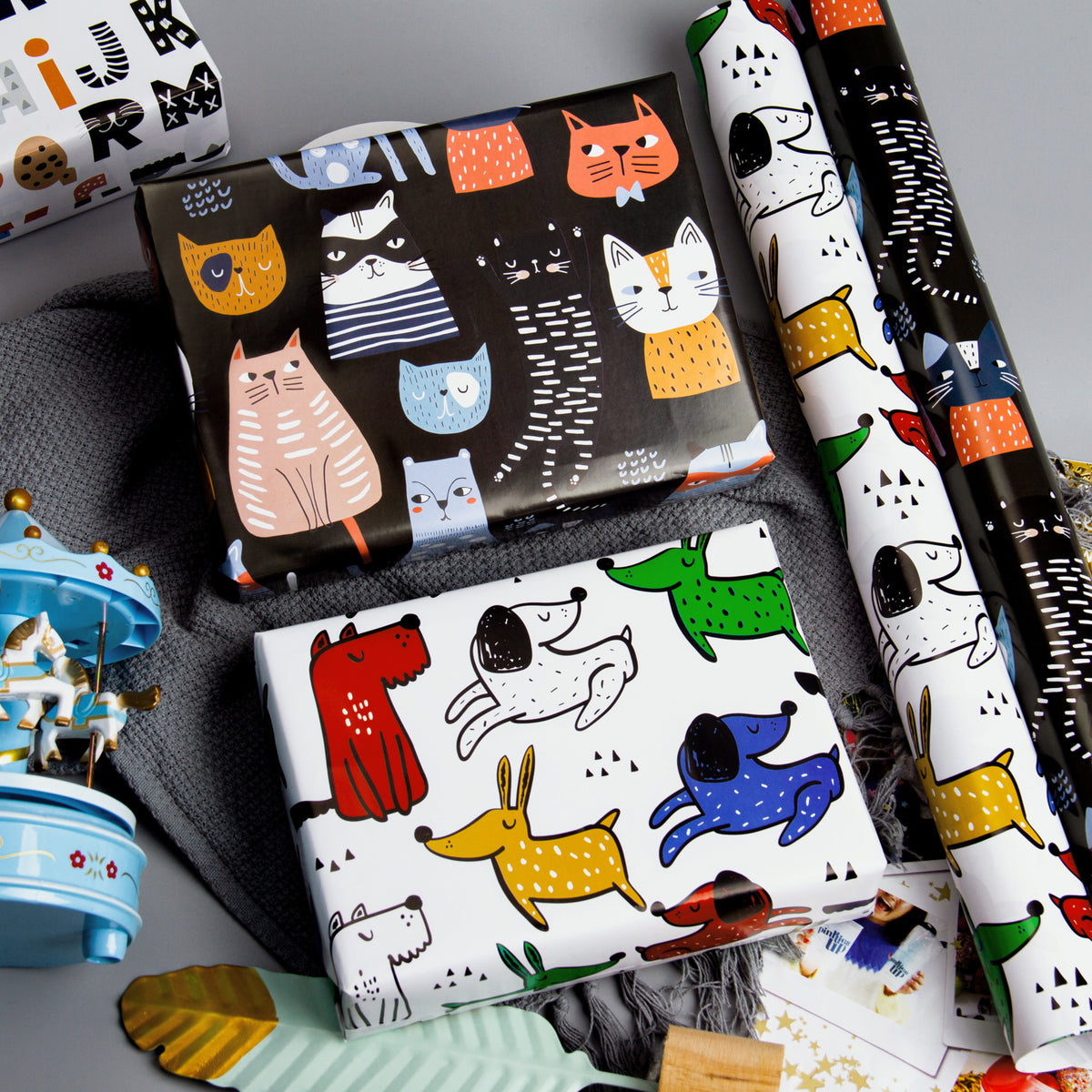 Wrapaholic-Cute Animal-Design -Gift-Wrapping-Paper-Roll-4 Rolls-4