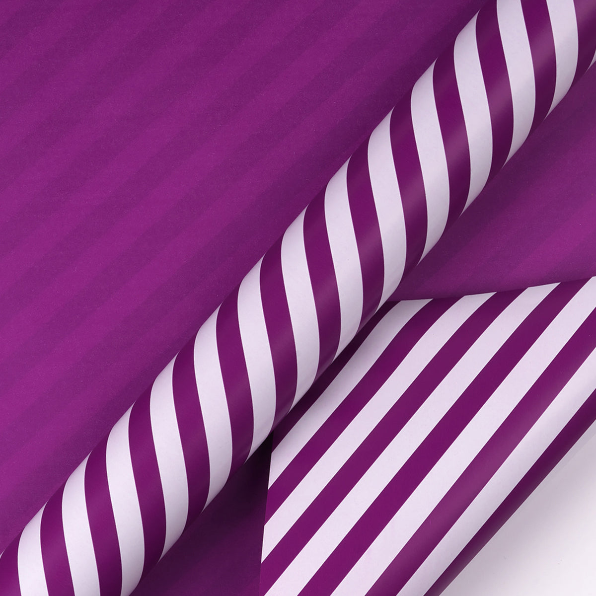 Wrapaholic- Dark-Purple- and-Stripes-Design-Reversible-Gift- Wrapping- Paper-2