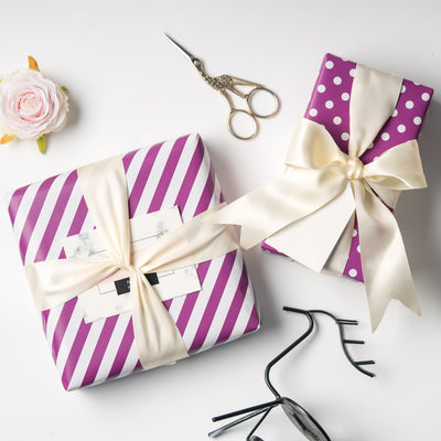 Wrapaholic- Dark-Purple- and-Stripes-Design-Reversible-Gift- Wrapping- Paper-4