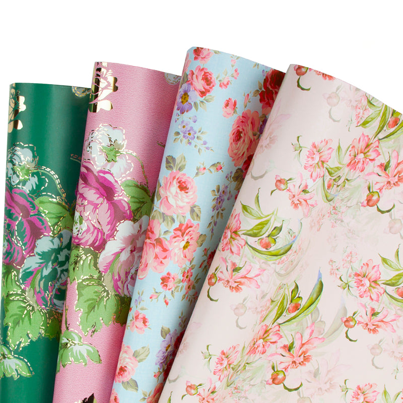 Wrapaholic-Different-Flower-Design-Wrapping-Paper-Sheets-1
