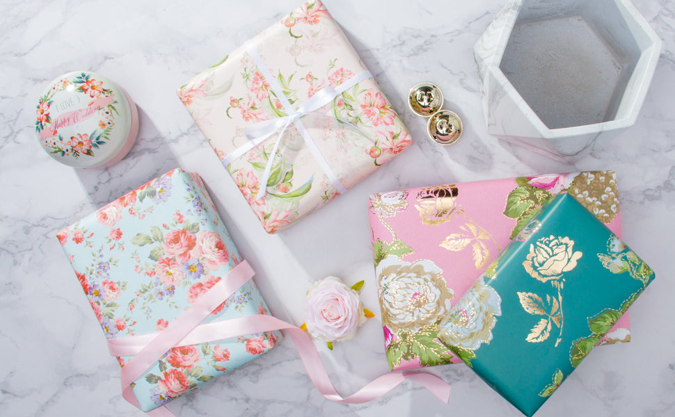 Wrapaholic-Different-Flower-Design-Wrapping-Paper-Sheets-4