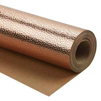 Wrapaholic-Embossing-Wrapping-Paper-Roll- Lychee-Leather Grain-Rosegold-1