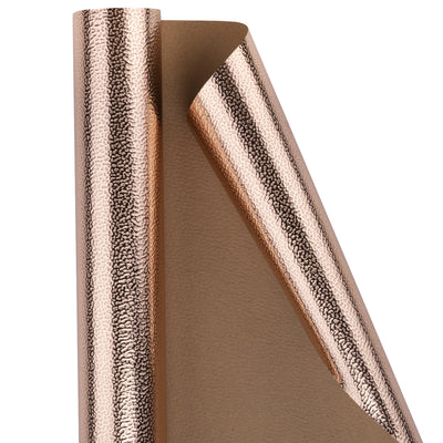 Wrapaholic-Embossing-Wrapping-Paper-Roll- Lychee-Leather Grain-Rosegold-2