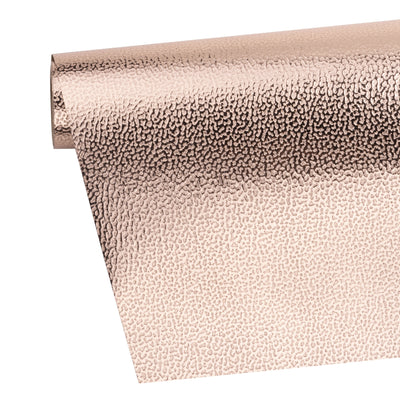 Wrapaholic-Embossing-Wrapping-Paper-Roll- Lychee-Leather Grain-Rosegold-3