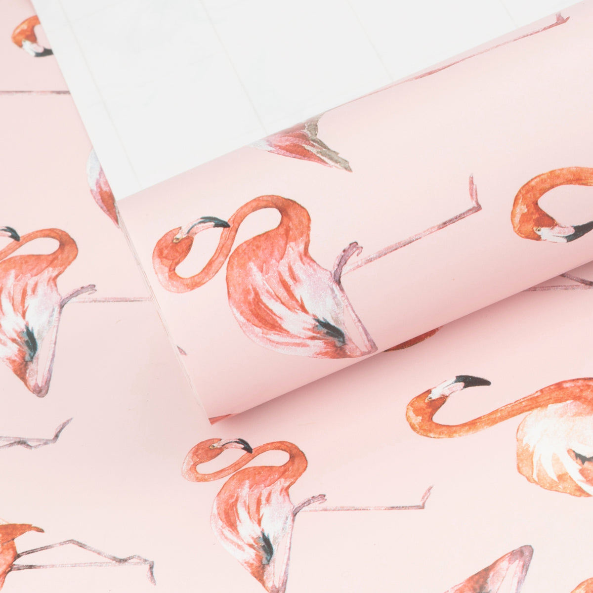 Wrapaholic-Flamingo-Design-with-Cut -Lines-Gift-Wrapping-Paper-Roll-2