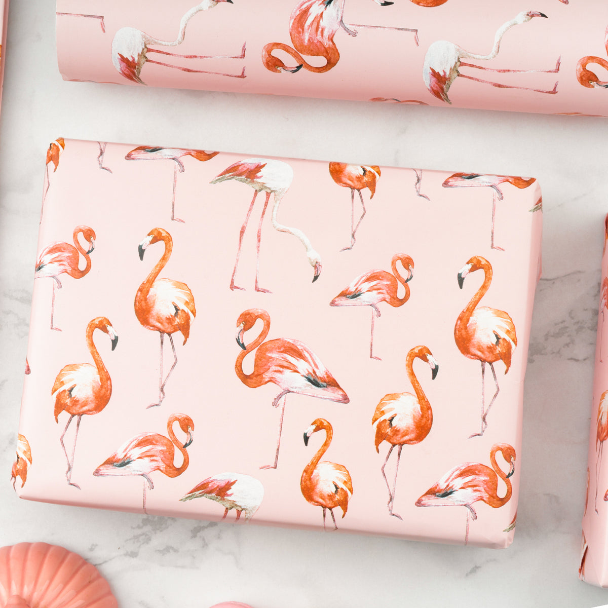 Wrapaholic-Flamingo-Design-with-Cut -Lines-Gift-Wrapping-Paper-Roll-6