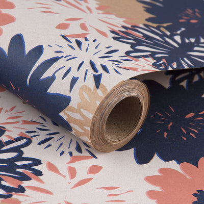 Wrapaholic-Floral-Multi-Color-Kraft-Wrapping-Paper-1