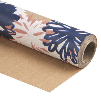 Wrapaholic-Floral-Multi-Color-Kraft-Wrapping-Paper-2