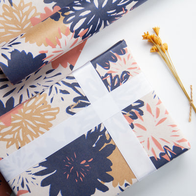 Wrapaholic-Floral-Multi-Color-Kraft-Wrapping-Paper-5