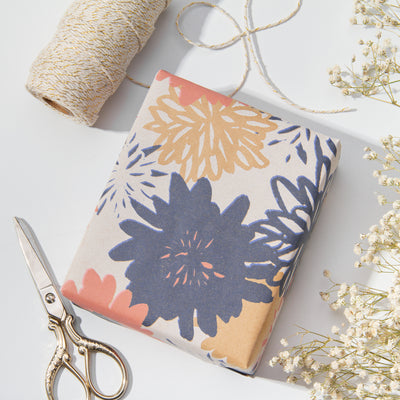 Wrapaholic-Floral-Multi-Color-Kraft-Wrapping-Paper-6