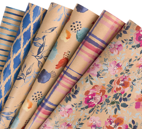 Wrapaholic-Floral-Print-Wrapping-Paper-Sheets-1