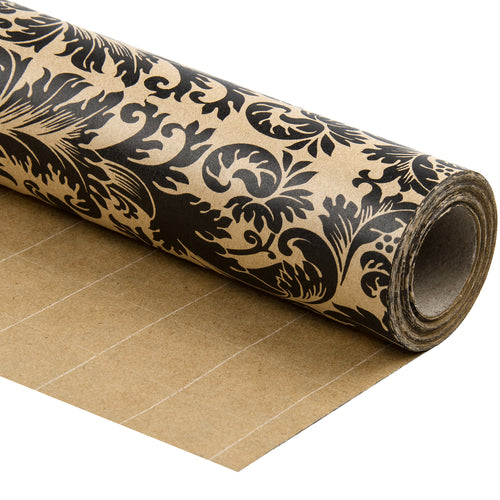 Wrapaholic-Flourish-Design-Kraft-Wrapping-Paper-1