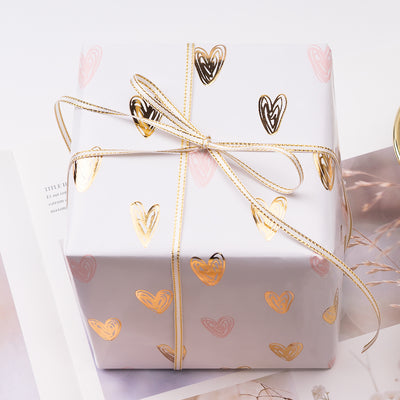 Wrapaholic-Gift-Wrapping-Pineapple-Heart-Stripes-Design-Paper-Roll-3