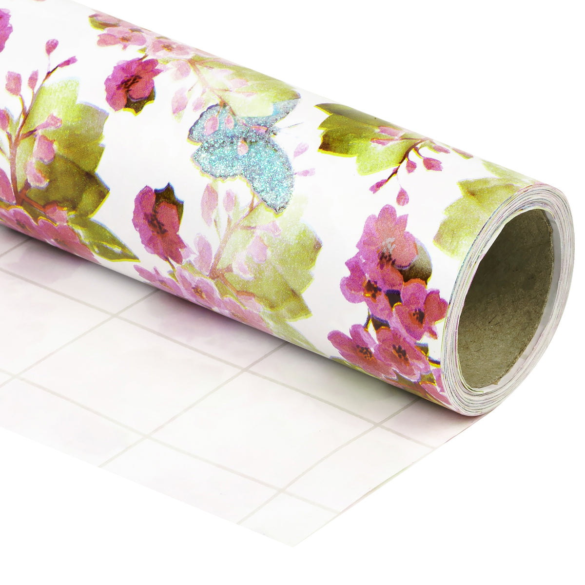 Wrapaholic-Glitter-Design-with-Cute-Butterfly-Gift-Wrapping-Paper-Roll-1