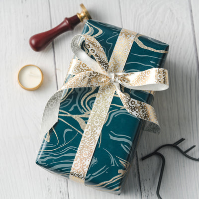 Wrapaholic-Glitter-Design-with-Green-Classic-Marble-Gift-Wrapping-Paper-Roll-5