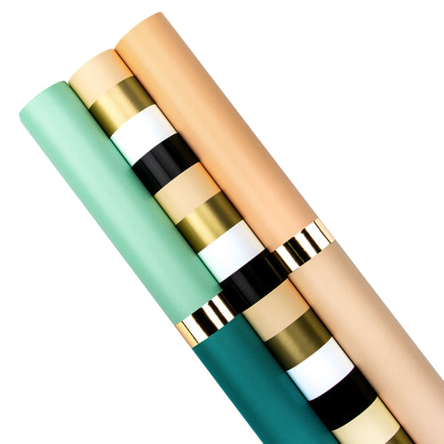 Wrapaholic-Gold-Foil-Stripes-Set-Wrapping-Paper-Roll-1