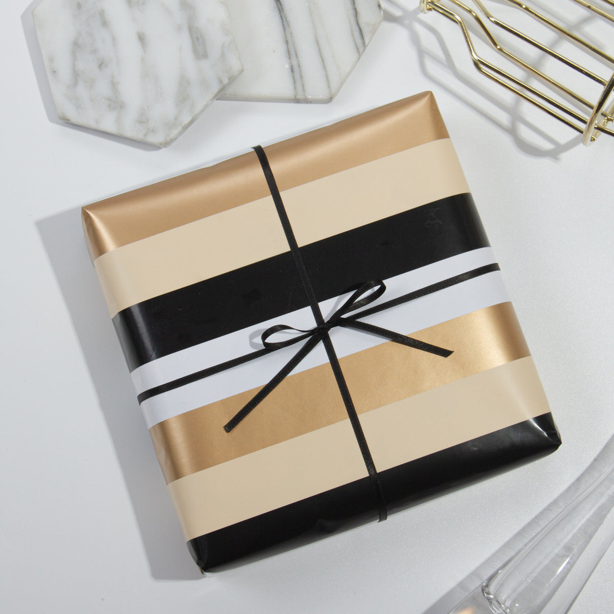 Wrapaholic-Gold-Foil-Stripes-Set-Wrapping-Paper-Roll-6